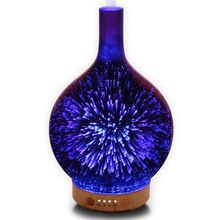 Us Plug, Essential Oil Diffuser Night Light 3D Effect Cool Fog Humidifier Ultrasonic Aroma With 14 Color Led, Home /