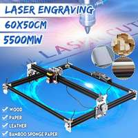 New 65*55cm Mini 5500MW Blue CNC Laser Engraving Machine 2Axis 12V DIY Home Engraver Desktop Wood Router/Cutter/Printer Machine