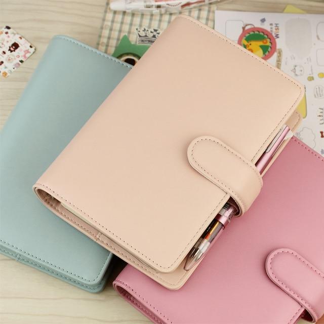 MyPretties Carpeta de agujeros a5 a6, cuaderno de macarrón, Agenda, diario, papelería de oficina
