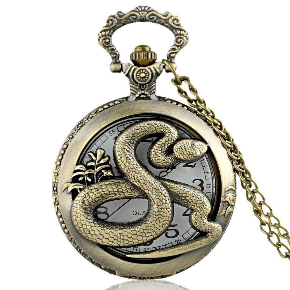 IBEINA  Twelve Chinese Zodiac Signs  Theme Full Hunter Quartz Engraved Fob Retro Pendant Pocket Watch Chain Gift