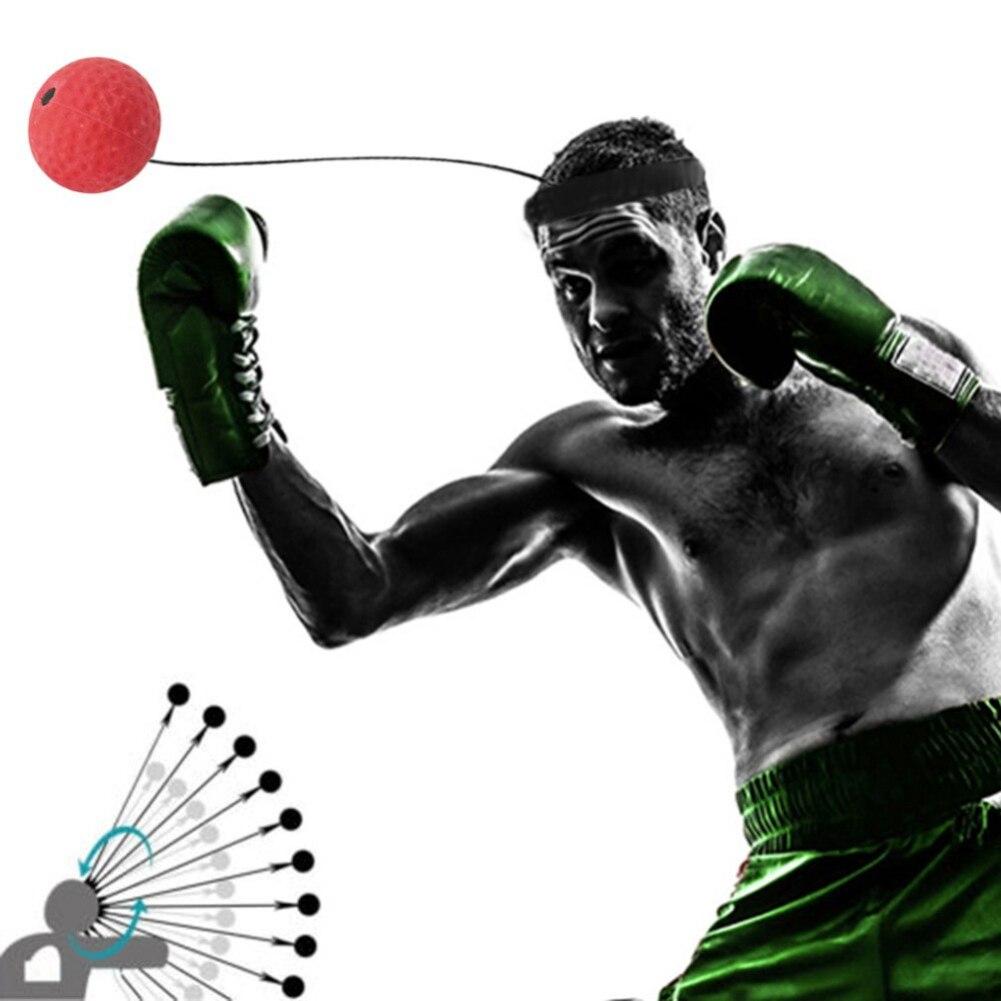 Hot Selling 1pc Hand Eye Training Set Head-Mounted Boxing Reflex Ball To Rais Reaction Boxing Exercise Equipment Punching Ball