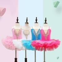Songyuexia Children Ballet Skirt DanceTutu Yarn Skirt Powder Girl Cling To Girl party show costumes