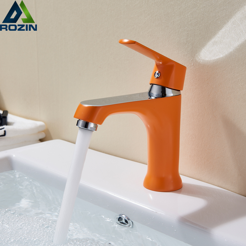 Bathroom Sink Basin Faucet Deck Mount Bright Chrome Washing Basin Mixer Water Taps bath Creative Hot