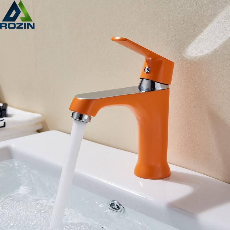 Bathroom Sink Basin Faucet Deck Mount Bright Chrome Washing Basin Mixer Water Taps bath Creative Hot