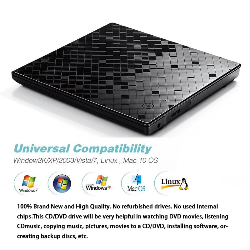 YAHEY USB 3.0 Ultra Slim Portable CD-ROM նվագարկիչ - Համակարգչային բաղադրիչներ - Լուսանկար 5