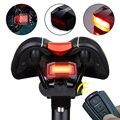 A3/A6 велосипедный беспроводной пульт дистанционного управления охранная сигнализация задний фонарь USB Перезаряжаемый светодиодный велосип...