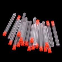 Горячая Распродажа 20 шт незавершенные пластиковые пробирки лабораторный испытательный инструмент с прозрачной винтовой крышкой, 12*100 мм