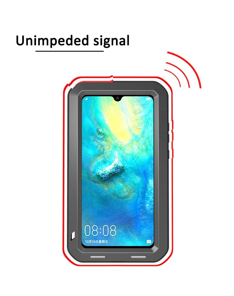 Pour Huawei P30 Pro Lite Original Lovemei aluminium métal + gorille verre choc goutte étui pour Huawei Mate 20 pro/8 9 - 3