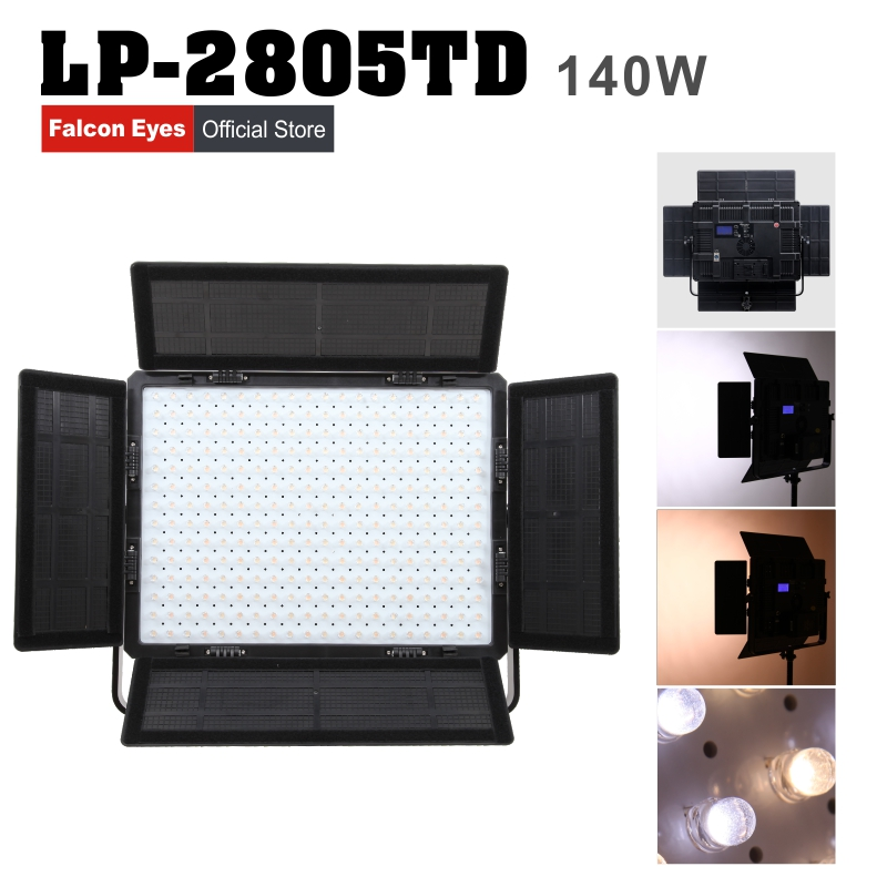 Falconeyes 140W Photography Equipment Bi-color LED Studio Video Light - Macchina fotografica e foto