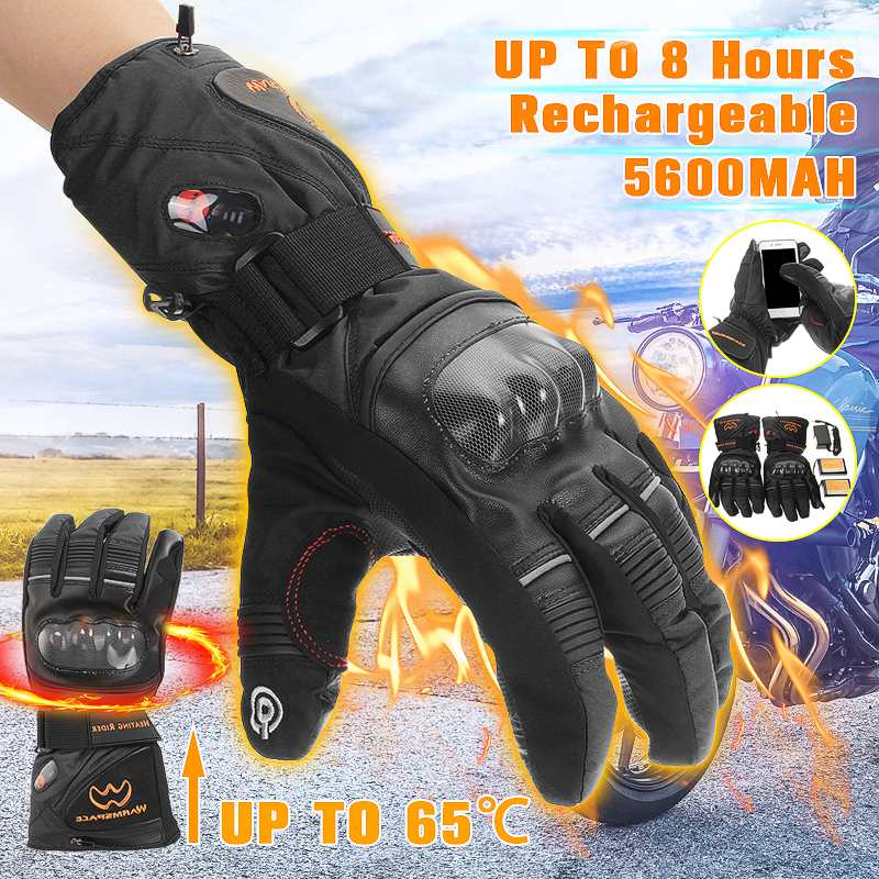 Outdoor Electric Heating Gloves Motorcycle Winter Hunting Warm Waterproof Lithium Battery Intelligent Heated Cycling Ski Gloves