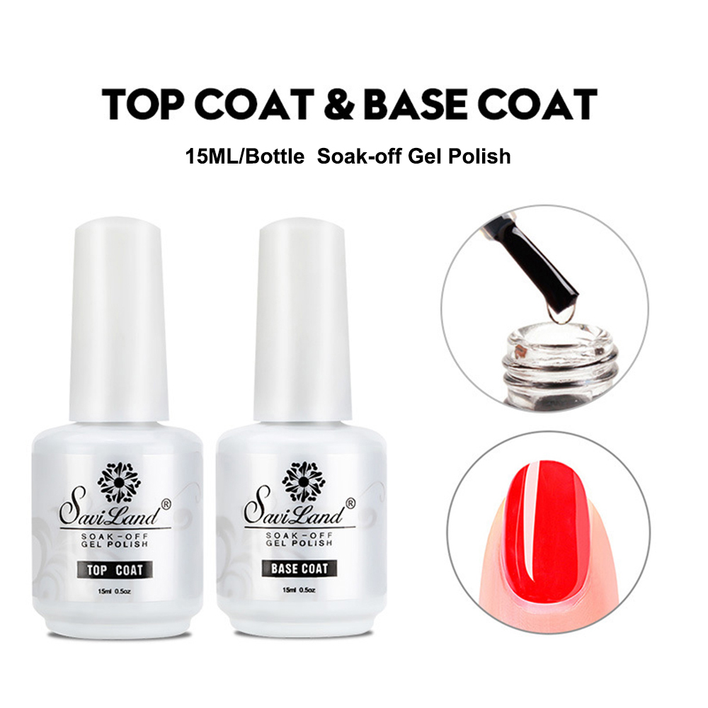 15ml Gel Nail Polish Top Coat/Base Coat Long Lasting Soak Off UV LED Gel Nail Lacquer make up nails gel