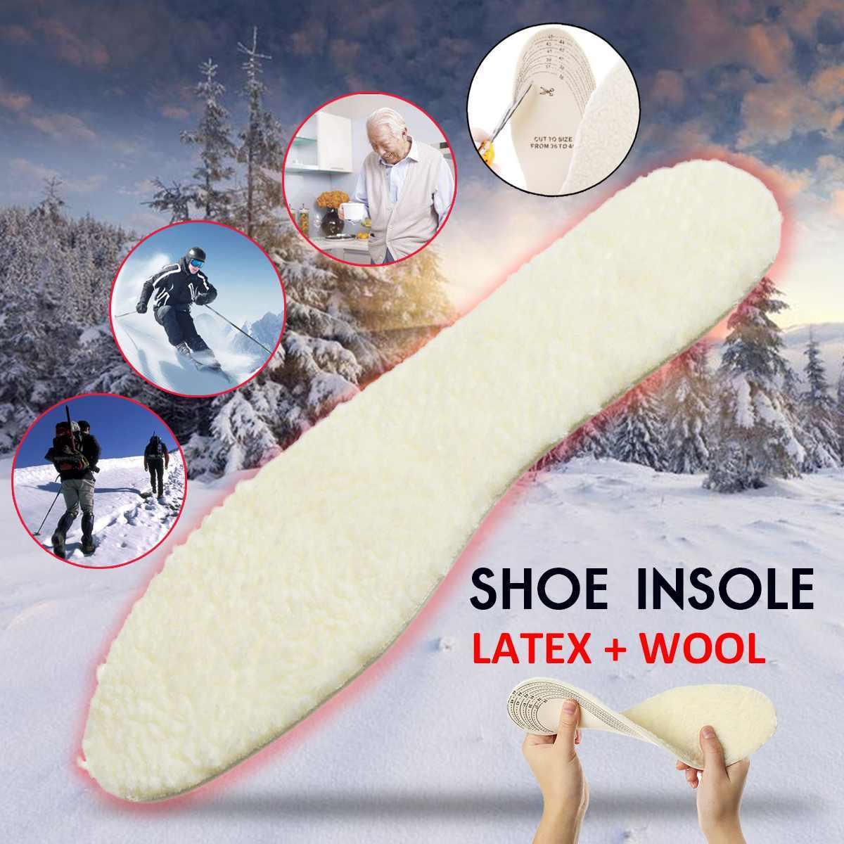 DIY Snijden Warm Inlegzolen voor Schoenen Winter Anti Koude Wollen Verdikte Innerlijke Zolen Schoen Pad voor Vrouwen Mannen Sport Sneeuw laarzen