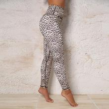Купить с кэшбэком 2019 Hight Waist Sport Leggings Leopard Printed Women Yoga Pants Elastic Tights Push Up Leggins Fitness Gym Running Sportswear