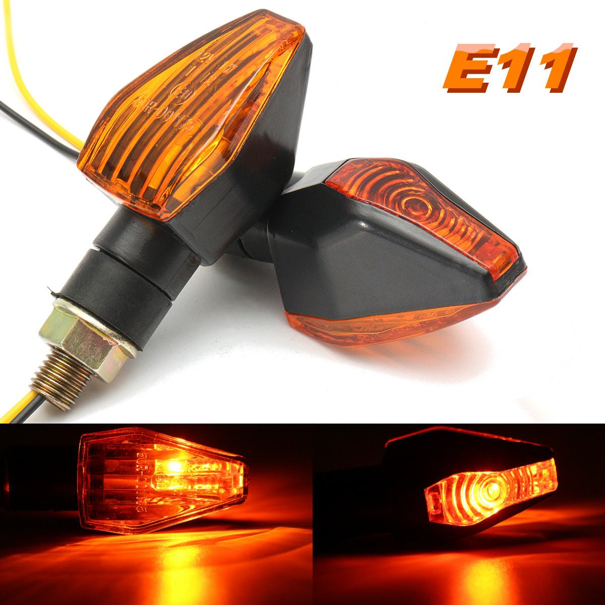 2pcs 12V Universal Motorcycle Blinker Turn Signal Indicator Light Bulb E-Marked