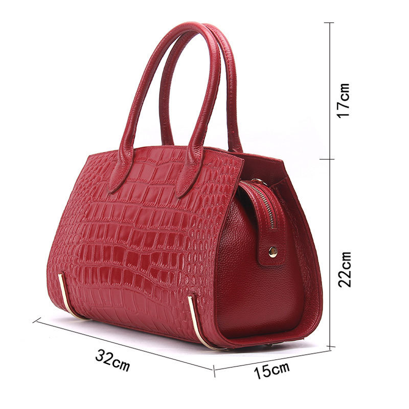 Brand Women Bags Designer Genuine Leather Tote Bag Female Fashion 100 Genuine Leather Luxury Handbags Boston Bag Bolsa Feminina in Shoulder Bags from Luggage Bags