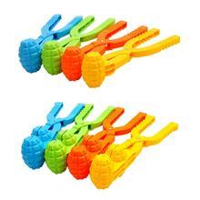 1 шт., зимний Снежный мяч, пластиковый Снежный мяч, песочный пресс-форма, инструмент для детей, для спорта на открытом воздухе, забавная игрушка для боя, снеговик, инструменты для изготовления