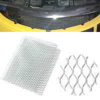 Universal Aluminum Vehicle Car Body Grille Net Mesh Grill Section Silver 40x13 Car Front Bumper Mesh Grille