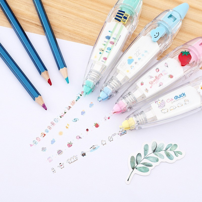 Kawaii Animals Panda Press Type Decorative Correction Tape Diary Stationery School Supplies Students Gifts 4M