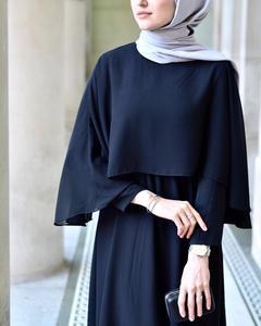 Image 5 - ערבי Vestidos 2019 ארוך איחוד האמירויות העבאיה דובאי קפטן קימונו פשתן מקסי מוסלמי צעיף Bodycon חיג אב שמלת נשים בגדים אסלאמיים תורכי