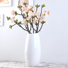 Small 3-fork Japanese Cherry Blossom Simulated Plant Flower Arrangement Flowers