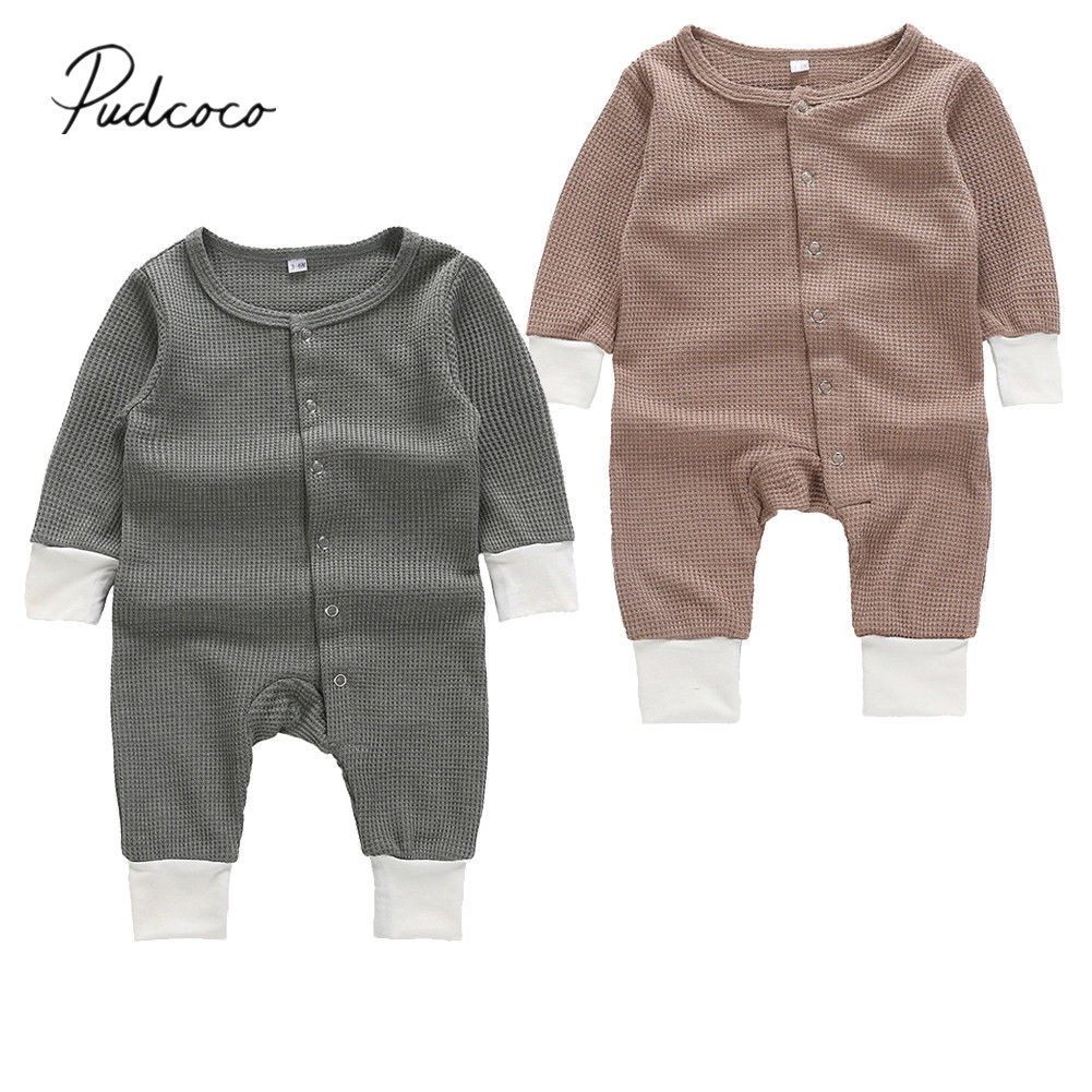 2019 Brand New Tops Newborn Infant Baby Boy Girl Romper Jumpsuit Playsuit Clothes Outfits Long Sleeve Knit Spring Autumn Outfits