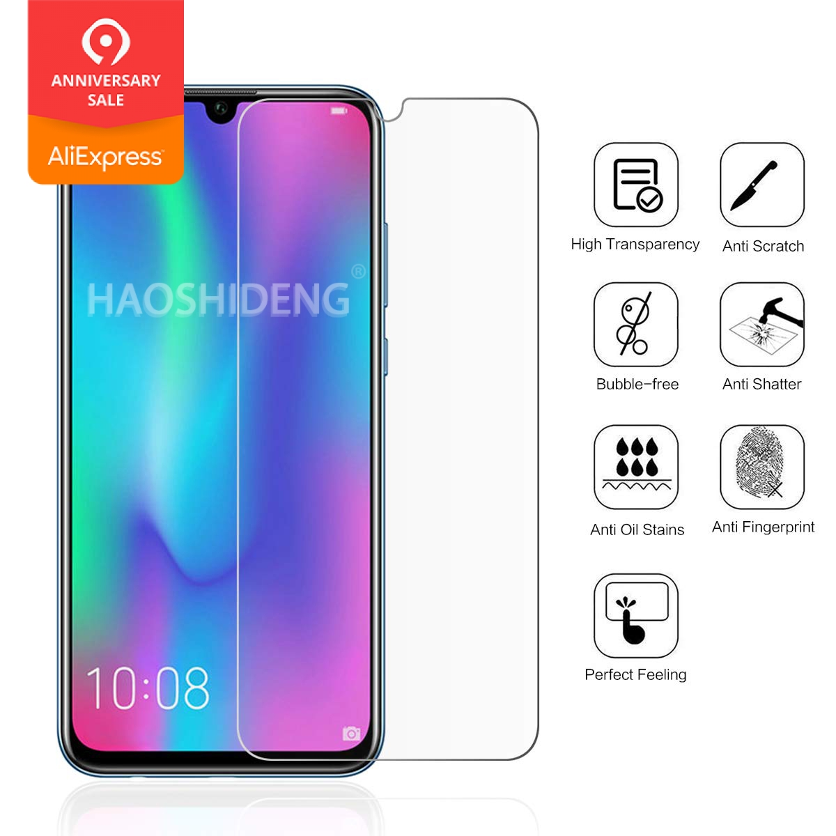 For Huawei Honor 10 Lite / P Smart 2019 Tempered Glass High Quality Protective Film LCD Screen Protector For Huawei P Smart 2019