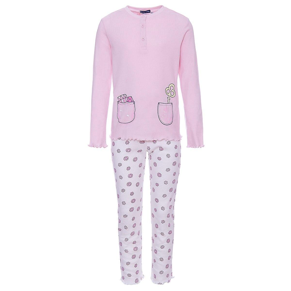 ORIGINAL MARINES Pajama Sets 9501093 Cotton Girls childrens clothing Sleepwear Robe parrot print cami pajama set with robe