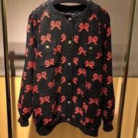 Женские Новые поступления шерстяная куртка 2019 свитер пальто Высокое качество Мода v образным вырезом Верхняя одежда длинная куртка для жен