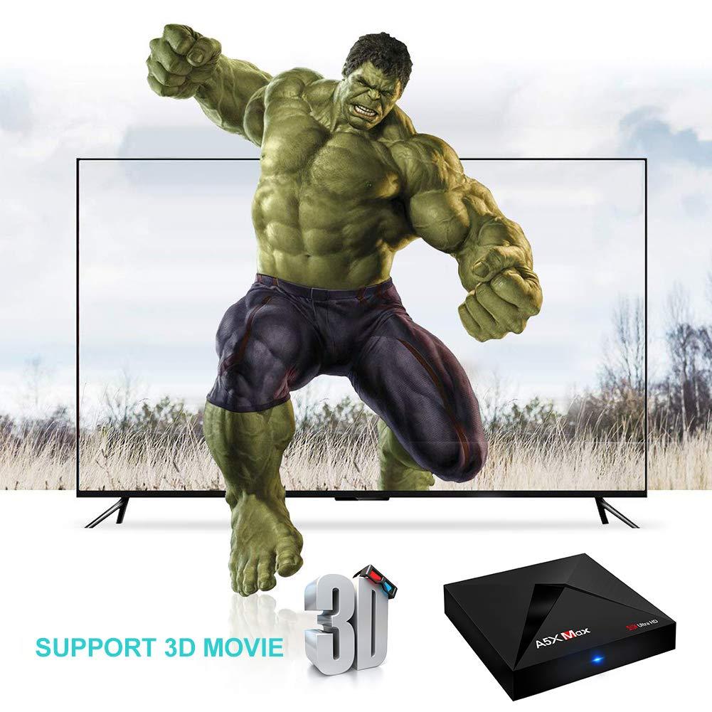 Android Tv Box A5X Max 4Gb Ram 32Gb Rom Rk3328 Quad Core Bluetooth4.0 2.4G/5.8G Dual Band Wifi Hd Set Top Box Dlna Airplay Med