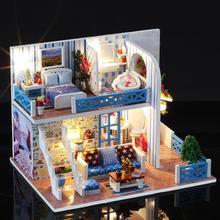 Мини кукольный домик игрушка деревянная ручной работы DIY Кукольный дом набор мебели Miniatura Кукольный дом для детей год День рождения PlayingGifts