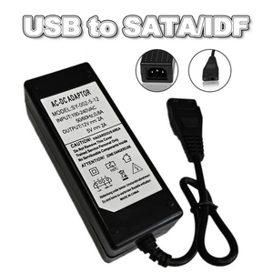 New 12V/5V 2A USB to IDE/SATA Power Supply Adapter Hard Drive/HDD/CD-ROM AC DC Adapter