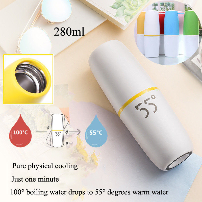 280ml Vacuum Flasks Mug Adult Kids Thermos Stainless Steel Hot Water Bottles Car Travel Cup Quickly 55 Degrees Vacuum Flasks