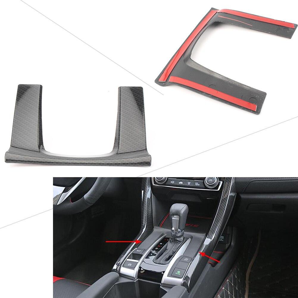 Панель переключения передач накладка отделка украшения для Honda Civic Седан углеродного волокна Стиль Авто Стайлинг