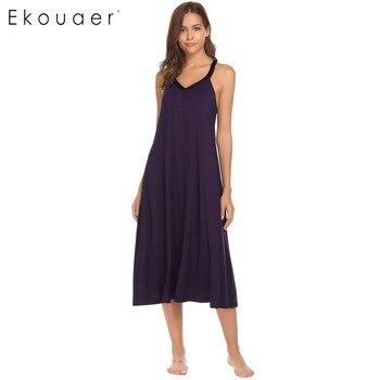 ac068a8d0f3c Ekouaer vestido de noche ropa interior de mujer ropa de dormir con ...