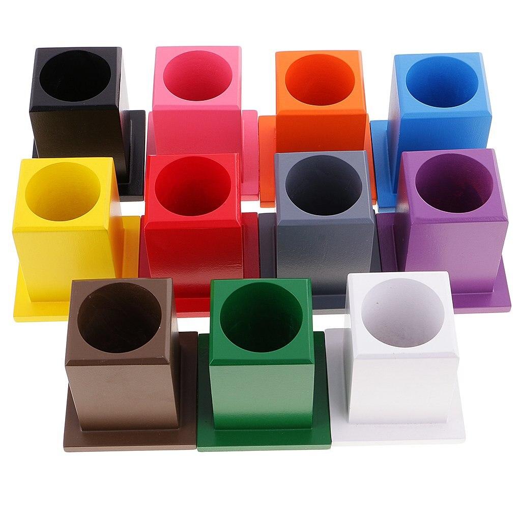 Montessori couleur sensorielle exercice 11 couleur porte-crayons apprentissage précoce éducation préscolaire jouet pour les enfants