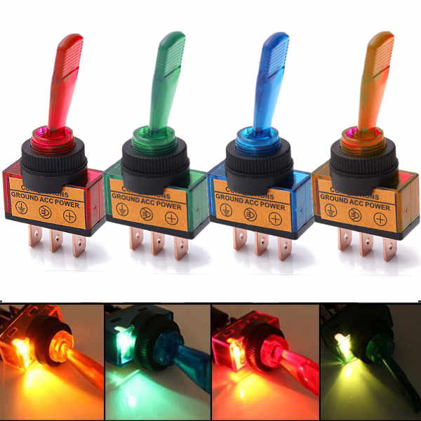 12V 20A Dell'automobile Della Lampadina Auto Luce Illuminato Flick SPST Toggle Rocker Interruttore di Comando ON/OFF Barca Cruscotto Pannello