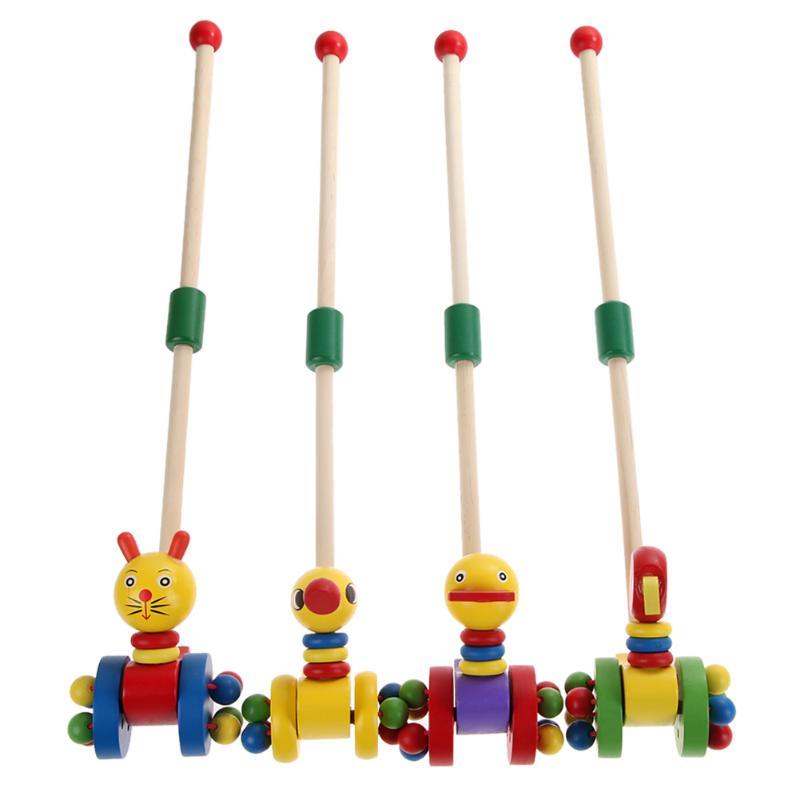 Del Bambino Del Fumetto Coagente Bambino Bambino Mettere Animali Di Legno Di Puzzle Trolley
