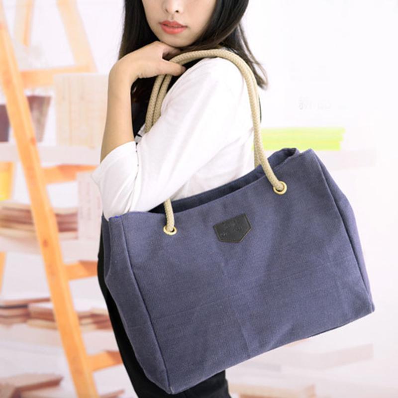 Woman Canvas Handbag Shoulder Girls Tote Purse Clutch Bag Bags