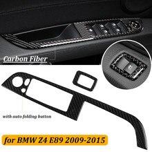 Углеродного волокна автомобилей Внутреннее окно кнопка включения левой руки вождения Автомобильная накладка отделкой полоски для BMW E89/Z4