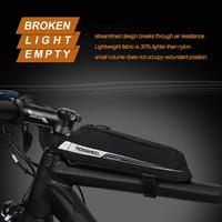 Bicycle New Frame Top Tube Bag Waterproof Pannier 0.4L Pouch Bike Bag Pack Case Black Anti light rain Light: Lightweight fabric