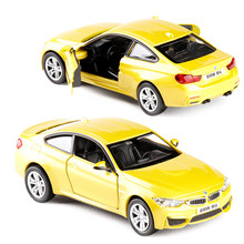 1:36 Scale Diecast Alloy Metal Luxury COUPE Sports Car Model For TheBMW M4 Collection Model Pull Back Toys Car(China)
