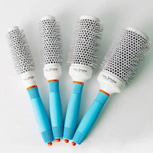Image 2 - Cepillo de pelo portátil de iones de cerámica para salón profesional peine de peluquería redondo, rizado, herramientas, 1 ud.