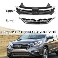 Car Front Bumper Hood Mesh Upper Trim Lower Grille Black Car Styling Grill Auto Replacement Parts for Honda for CRV 2015 2016