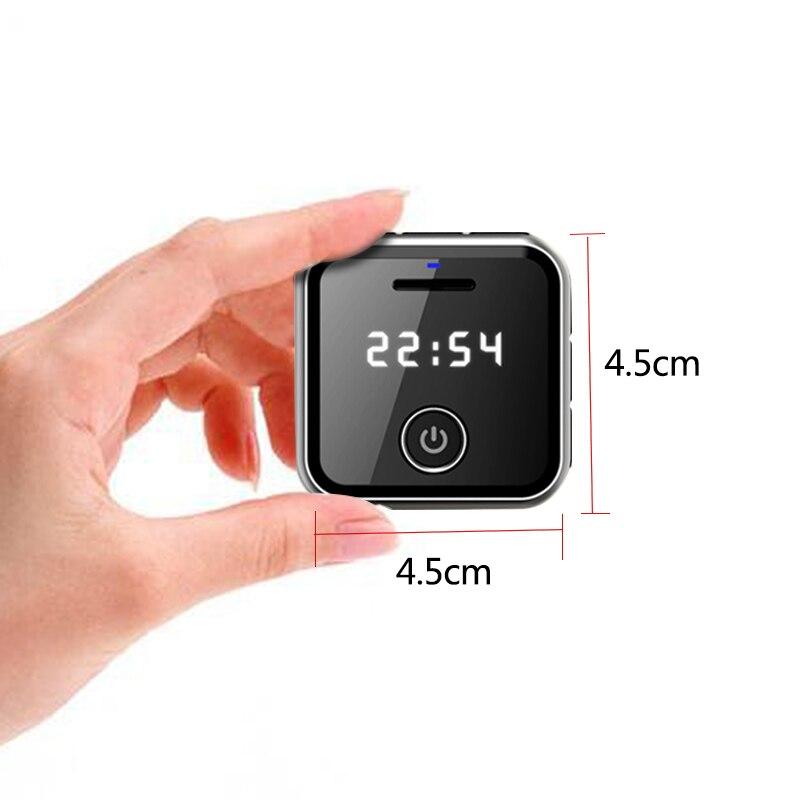 R300 Portable Clip métal sport Mini MP3 HiFi lecteur de musique 8G 0.91 pouces WAV enregistreur vocal FM Radio hifi lecteur - 5