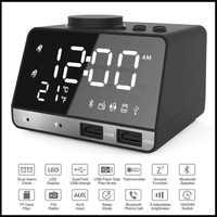 K11 Wired Bluetooth Speaker LED Digital Alarm Clock FM Radio Phone USB Charging TF Play Handsfree Snooze Digital Clock