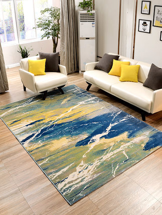 Nordic abstract imported carpet living room coffee table mat bedroom full bedside front blanket European style room rectangle