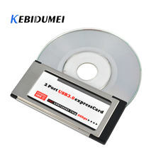 Kebidumei PCI Express To USB 3.0 Dual 2 Ports PCI E Card Adapter For NEC Chipset 34 MM Slot ExpressCard Converter 5 Gbps For PC