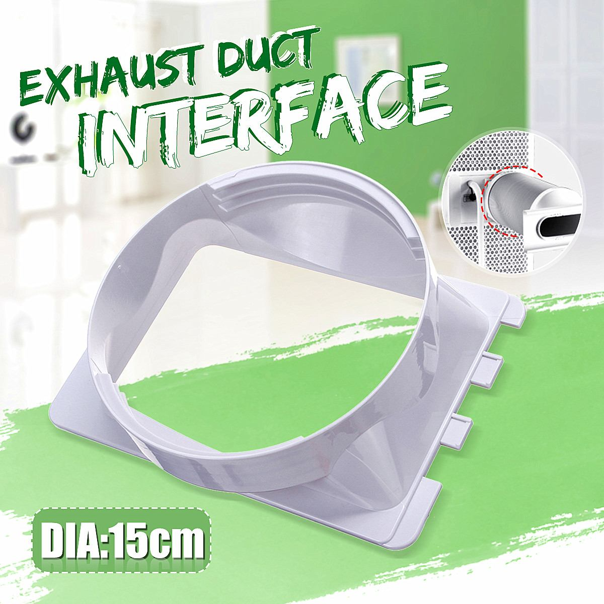 Diameter 15cm/5.9 Portable Air Conditioning Body Exhaust Duct Interface Exhaust Pipe Connector Air Conditioner Accessories PartDiameter 15cm/5.9 Portable Air Conditioning Body Exhaust Duct Interface Exhaust Pipe Connector Air Conditioner Accessories Part