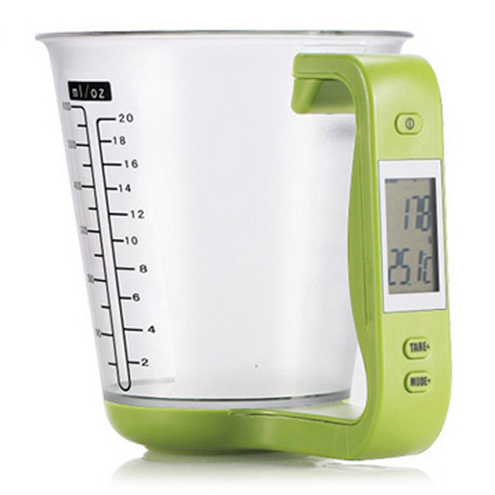 Detachable Measuring Cup Kitchen Scales Digital Beaker Libra Electronic Scale Tool With LCD Display Temperature Measurement Cups