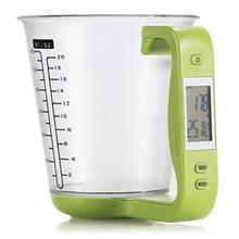 Съемная мерная чашка Кухонные весы Цифровой шейкер весы электронный инструмент с температура дисплея LCD измерительные чашечки
